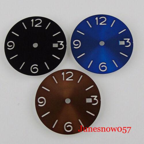 Sterile 29.2mm Black/Blue Watch Dial fit MIYOTA 8215 MINGZHU 2813 Date Window