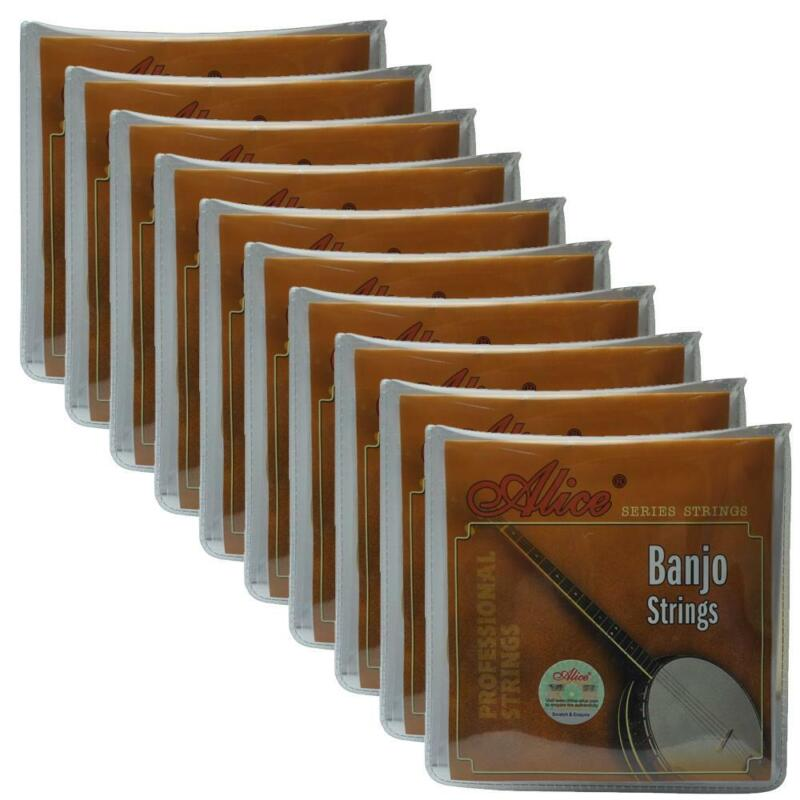 10Sets Alice Banjo Strings Ni-Plated Steel Coated Copper Alloy Wound ADGC AJ04