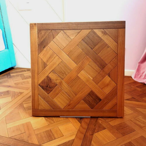 Burma Teak Versailles Parquet Floor Tile Wallpaper Hardwood flooring wood  Oiled