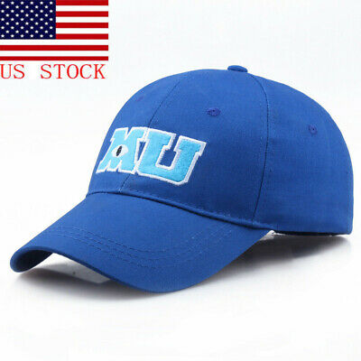 Parks Monsters University MU Blue Baseball adjustable  Hat Cap Adult US Stock](Monsters Inc Hat)