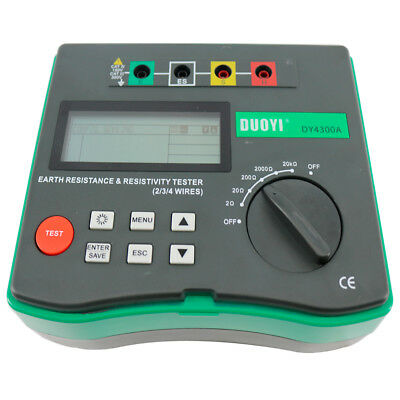 Dy4300a 4-terminal Earth Resistance And Soil Resistivity Tester
