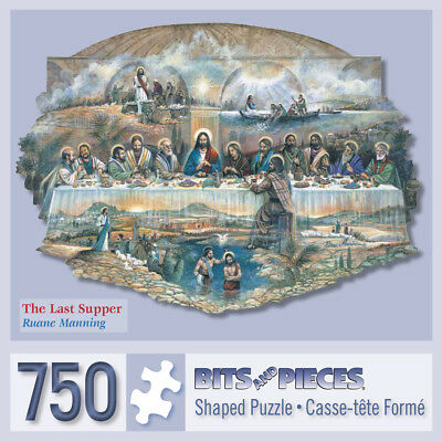 Bits and Pieces-750 Piece Shaped Jigsaw Puzzle-The Last Supper-by Ruane Manning (Shape Puzzles)