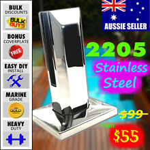 Spigot Square Marine 2205 Stainless Steel Frameles Glass Fence Newcastle 2300 Newcastle Area Preview