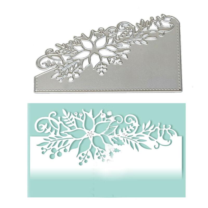 Metal Cutting Dies Scrapbookings Cards Flower Corner Xmas DIY Postcards 3D Stamp