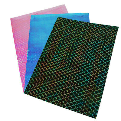 22*30cm Mermaid Fish Scale Pattern Leather Fabric for DIY Bags Leather Sheets](Fish Costume For Kids)