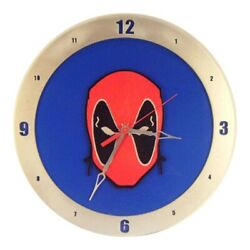 Deadpool Wall Clock|14 in Diameter | Wooden Handmade in USA