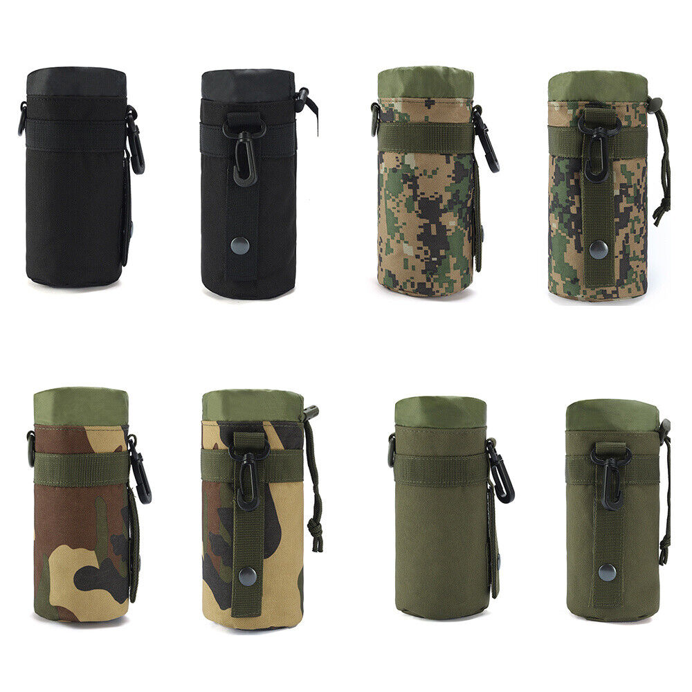 Travel Water Bottle Carrier Insulated Cup Bag Hiking Belt Holder Kettle Pouch Bags