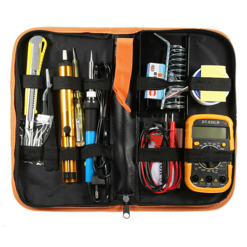 60W Adjustable Temperature Soldering Iron Kit Electric Weldi