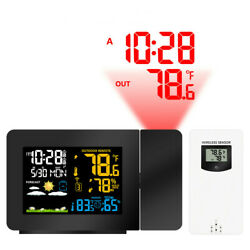 Multifunction Digital Projection Alarm Clock LCD Indoor Outdoor Temperature US