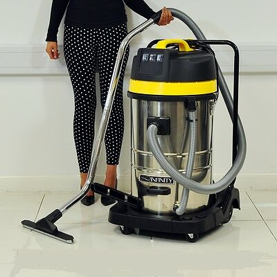 WET & DRY VACUUM VAC CLEANER INDUSTRIAL 80L LITRE 3000W STAINLESS STEEL CARWASH