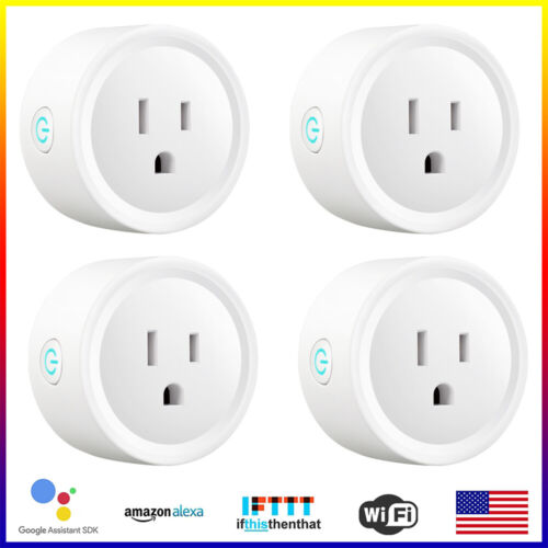 4x Wifi Smart Plug Remote Control Socket Outlet 10A works with Alexa&Google Home