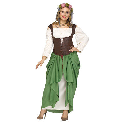 Womens Sexy Wench Plus Size Medieval Costume