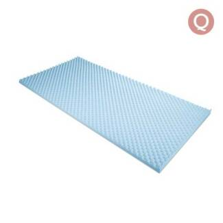 Gel Infused Egg Crate Mattress Topper  - Queen
