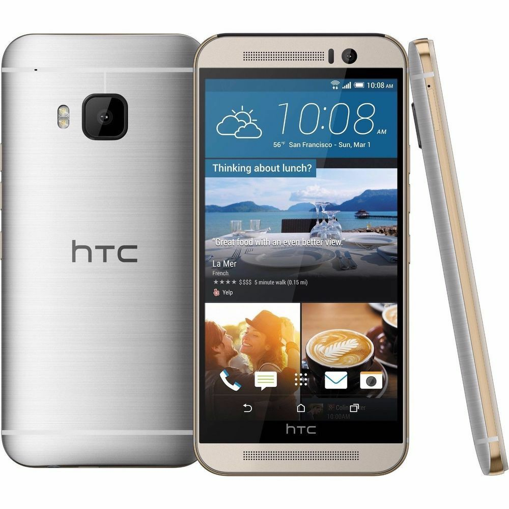 Htc One - HTC One M9 - 32GB/3GB - Gold on Silver (Factory Unlocked) Smartphone