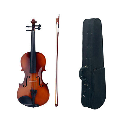 New 4/4 Full Size Natural Acoustic Violin Fiddle with Case Bow Rosin on Rummage