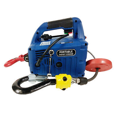 Portable Electric Winches Wire-controlled Remote Control Hoist Crane 450kg7.6m