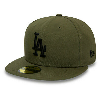 New Era Men's MLB Los Angeles Dodgers Khaki Green 59FIFTY Fitted Cap