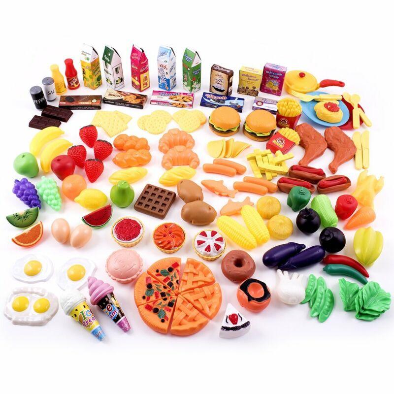 Little Bear Foot Play Food Set for Kids - Pretend 150 + Piece Assortment for