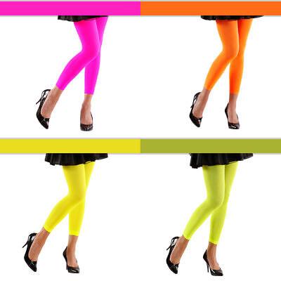 Neon Leggings 70 DEN, versch. Farben, ideal als Grundlage fürs - Kostüm Leggings