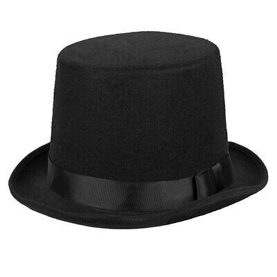 Schwarzer Zylinder Hut Herren Hüte Halloween Karneval Zauberer - Top Hat Schwarz