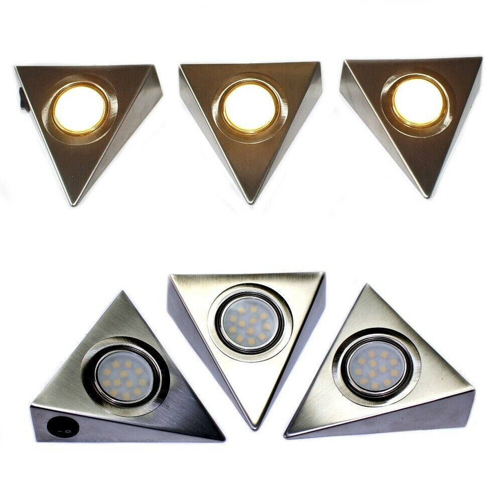 LED Unterbauleuchte Schrankleuchte 3er Set 9W-12W warmweiß Strahler Küche Prisma