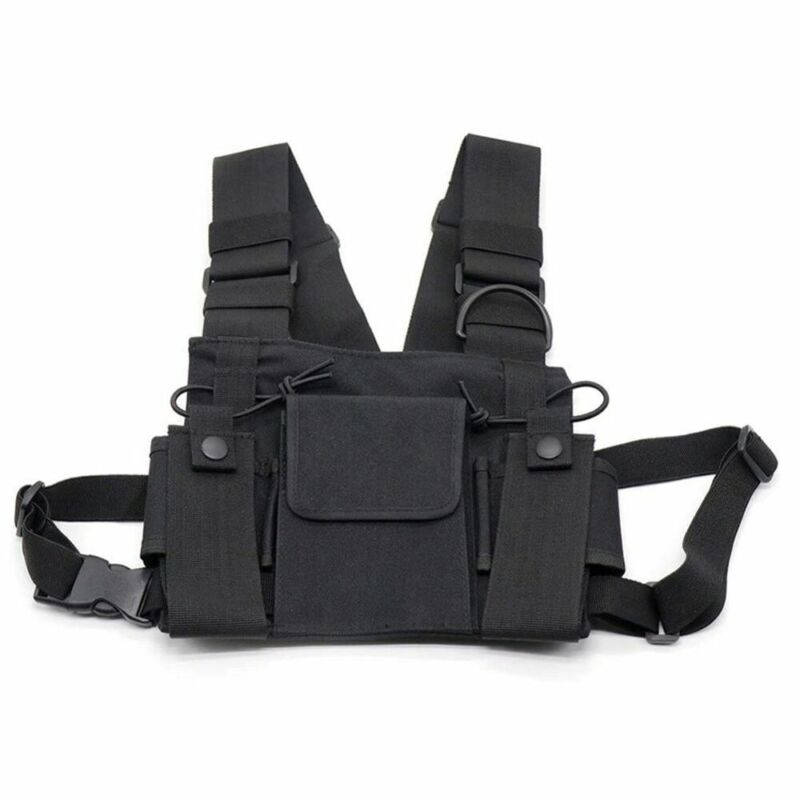 Radio Chest Harness 2-Way Walkie Talkie Holster Holder Vest Chest Rig Pack Bag