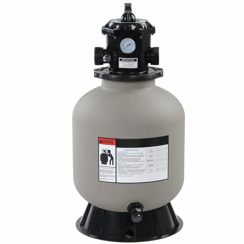 """16"""" Swimming Pool Pump Sand Filter Above Inground Pond Fountain Fit 0.35-0.75HP"""