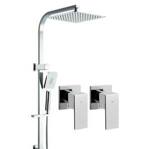 Shower Square 10 Head with Hand Held Shower inc.Taps Kings Beach Caloundra Area Preview