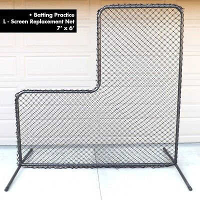 L-Screen Nylon Replacement Net 7' x 6'  Batting Practice Pitcher Security ()