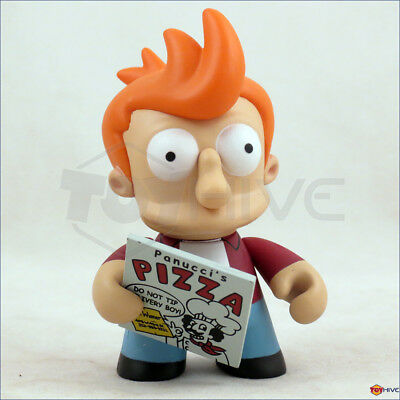 Kidrobot Futurama series 1 Fy with Pizza Box 3-inch vinyl figure - displayed