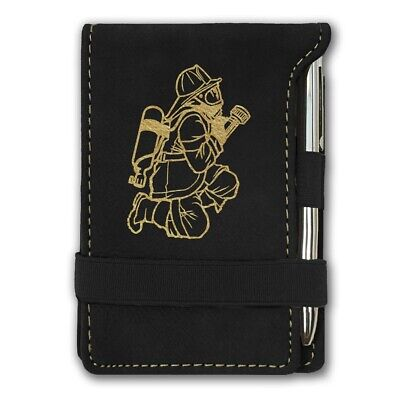 Fireman With Hose (Mini Notepad, Fireman with)