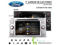 "Ford Focus Connect Fiesta 7"" Android HD Screen Car WiFi GPS Bluetooth Radio DVD USB SD Aux Stereo"