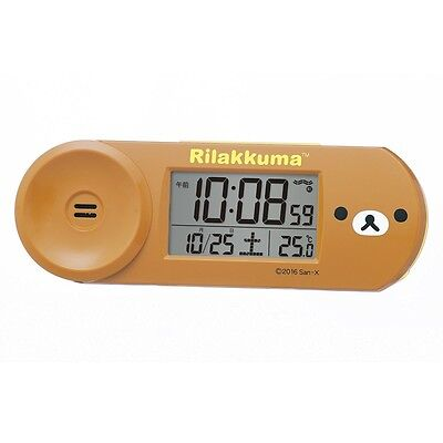 SEIKO CLOCK Rilakkuma digital radio alarm clock CQ147B from Japan with Tracking
