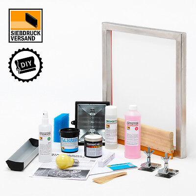 SIEBDRUCK Starterset | Sieb, Rakel, Emulsion, Farbe, Entschichter| DIY PRINT-KIT