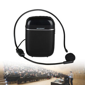 Aporo T2 Portable FM Voice Booster Amplifier Speaker +Microphone For Tour Guide