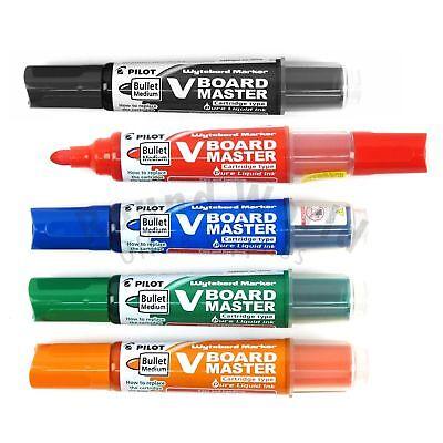 Pilot WBMA-VBM-M VBoard Master Whiteboard Refillable Marker Pen 5s Color Set