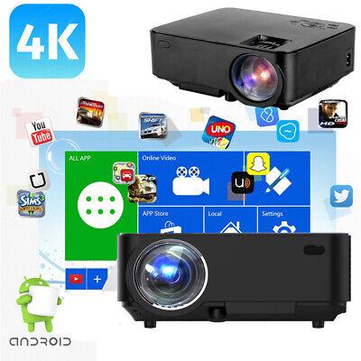 Wifi LED Projector Full HD 1080P Home Cinema Movie Projectors USB HDMI VGA AV US