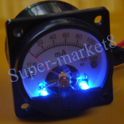 100ma Dc Panel Meter With Blue Back Light Fr 300b 211 845 6550 Tube Amplifier