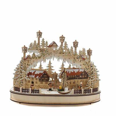 "Kurt Adler 16.5"" Musical LED Village Table Piece"