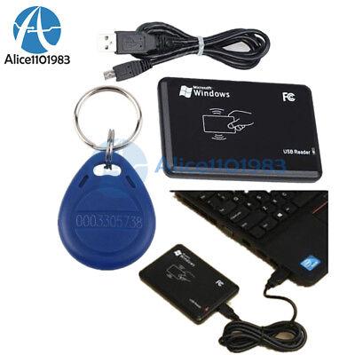 Usb Rfid Proximity Sensor Smart Id Card Reader 125khz Em4100 Ic Keyfobs Key Tags