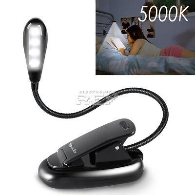 Lámpara Cuello Flexible 4 LED Lectura Libro, Ebook, Pinza Clip h100