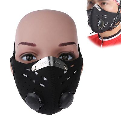 Activated Carbon Air Filter Mask Bike Bicycle Cycling Half Face Dustproof Masks