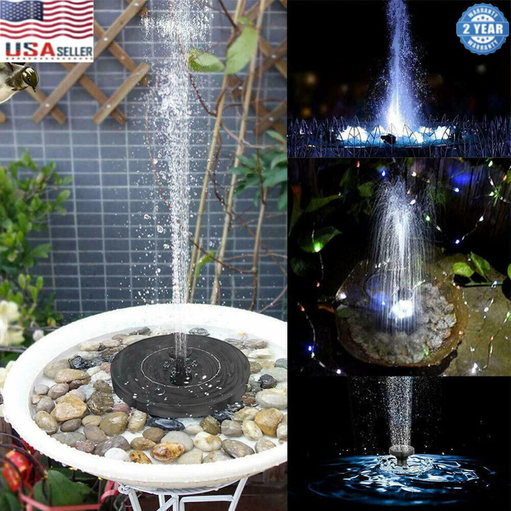 led solar power fountain submersible water pump