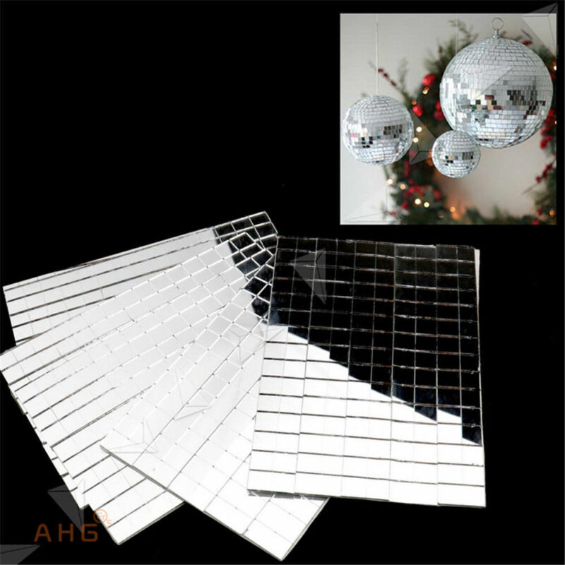 Home Decoration - 150pcs Self-Adhesive Mirror Tiling Silver DIY Home Decor Mosaic Mirror Tiles Set