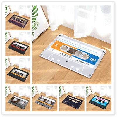 Vintage Cassette Tape Indoor Doormat Non Slip Door Floor Mats Carpet Rugs Decor - Cassette Tape Decorations