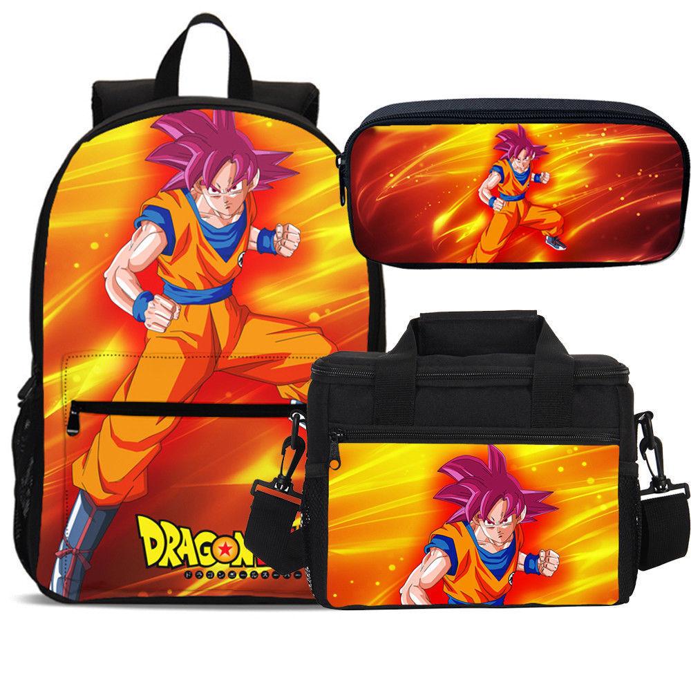 Cowboy Bebop Anime Boys School Bag Backpack Lunch Bag Pencil Case Men/'s Lot