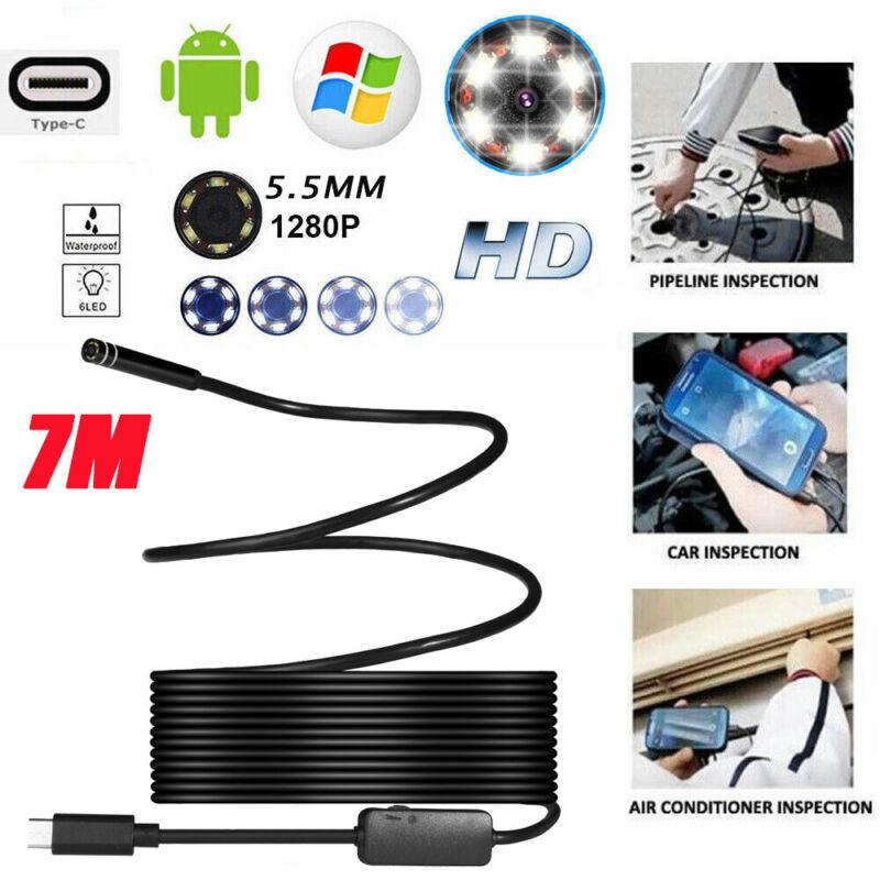 6LED USB Waterproof Camera Borescope Endoscope Inspection Fo