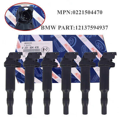 6x OEM FOR BOSCH BMW E46 E60 E85 E90 IGNITION COIL SET 0221504470 / 12137594937