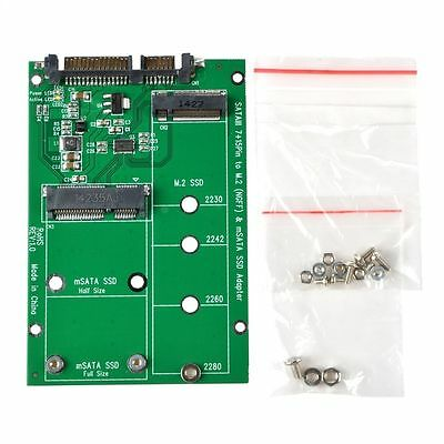 M.2 NGFF mSATA SSD Hard Drive to SATA 3 Adapter Mini PCI-E Card  Board Converter