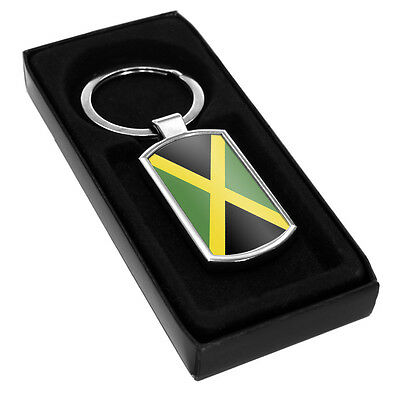 Jamaica Flag Metal Keyring 103 holiday travel leaving party gift idea